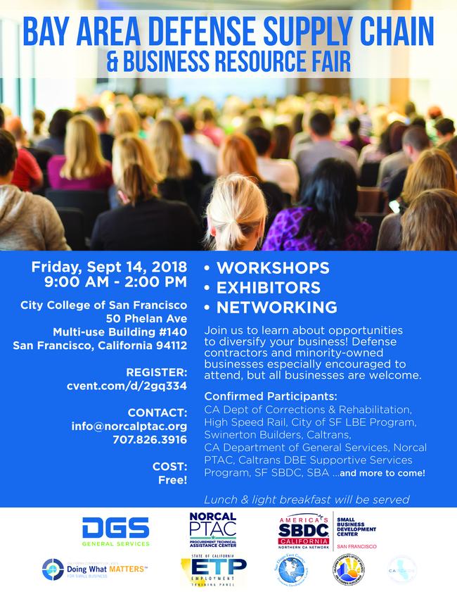 Bay Area Defense Supply Chain & Business Resource Fair